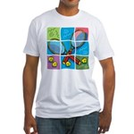 Tennis Puzzle Fitted T-Shirt
