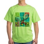Tennis Puzzle Green T-Shirt