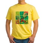 Tennis Puzzle Yellow T-Shirt