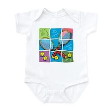 Tennis Puzzle Infant Bodysuit