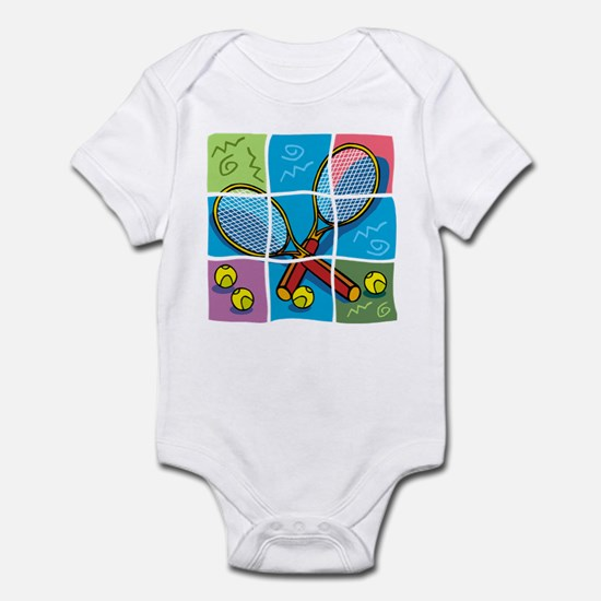 Tennis Puzzle Infant Bodysuit