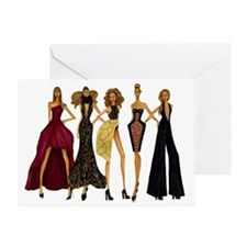 Group Divas Greeting Card