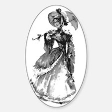 prettyladywithbrella Sticker (Oval)