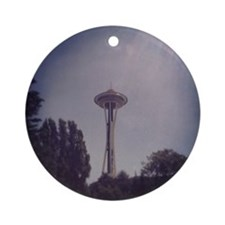 Seattle Space Needle Round Ornament