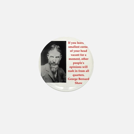 george bernard shaw quote Mini Button