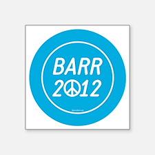 """Barr 2012 Peace Square Sticker 3"""" x 3"""""""