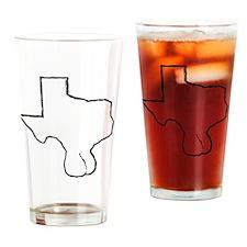 Texas Balls Drinking Glass