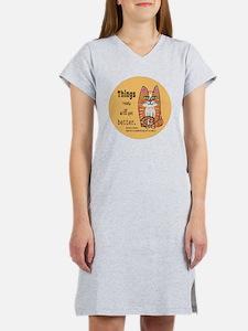 Heres A Cat Women's Nightshirt