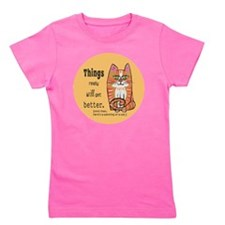 Heres A Cat Girl's Tee