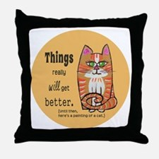 Heres A Cat Throw Pillow