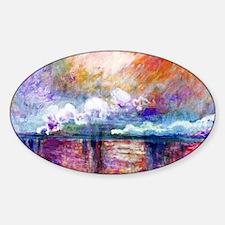 Claude Monet Charing Cross Bridge Sticker (Oval)