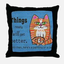 Heres A Cat Throw Pillow