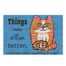 Heres A Cat Postcards (Package of 8)