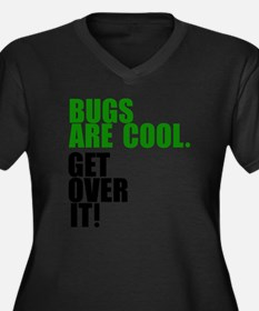 Bugs are coo Women's Plus Size Dark V-Neck T-Shirt