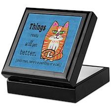 Heres A Cat Keepsake Box