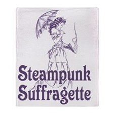 Steampunk Suffragette Throw Blanket