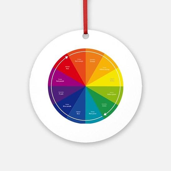 The Color Wheel Round Ornament