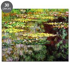 Claude Monet Sea Rose Pond Puzzle