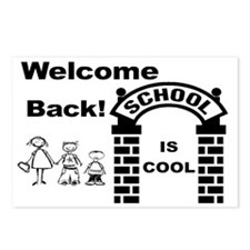 school is cool sign Postcards (Package of 8)