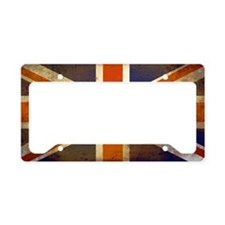 Grungy Union Jack License Plate Holder
