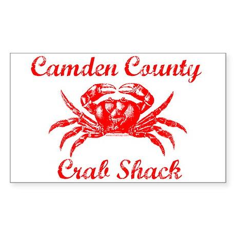 Camden Co. Crab Shack Rectangle Sticker