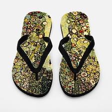 Gustav Klimt Garden Paths With Chickens Flip Flops