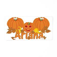 Halloween Pumpkin Ariana Aluminum License Plate
