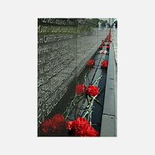 Vietnam Veterans Memorial with Wa Rectangle Magnet