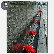 Vietnam Veterans Memorial with Washington M Puzzle