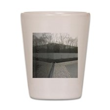 Vietnam war memorial wall reflection Shot Glass