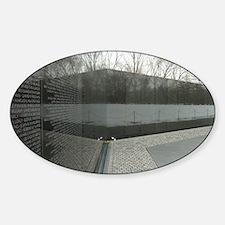 Vietnam war memorial wall reflectio Decal