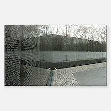 Vietnam war memorial wall refl Decal
