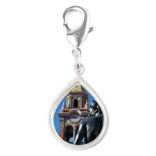 Pomona on The Plaza Silver Teardrop Charm