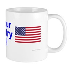 Christians are Americans too bumper sti Mug
