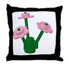 Lego Flowers Throw Pillow