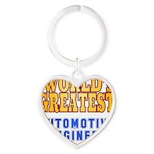 World's Greatest Automotive Enginee Heart Keychain