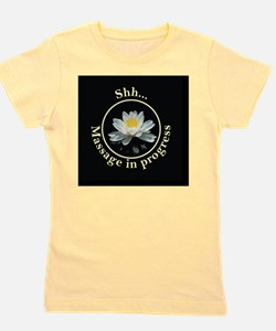 Shh! Massage In Progress with Lotus Flo Girl's Tee