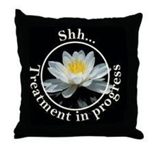 Shh! Massage In Progress II with Lotu Throw Pillow