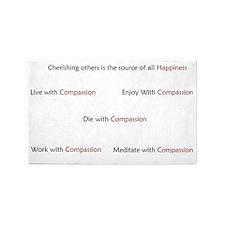 Compassion wall Design 3'x5' Area Rug