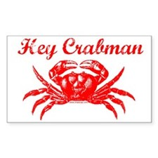 Hey Crabman Rectangle Decal