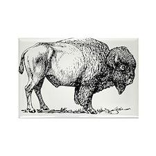 Buffalo/Bison Shirt Rectangle Magnet