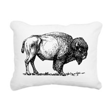 Buffalo/Bison Shirt Rectangular Canvas Pillow