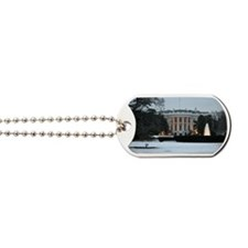 white house snow Dog Tags