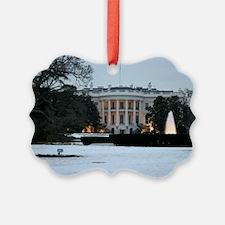 white house snow Ornament