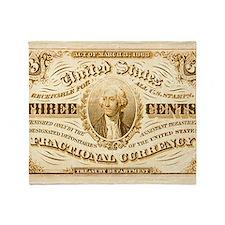 Vintage US currency Throw Blanket