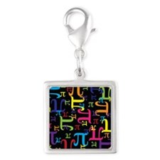 Pieces of Pi Silver Square Charm