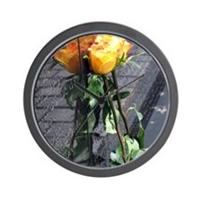 Vietnam Veterans Memorial Wall Rose Wall Clock