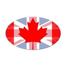 UK/Canada Oval Car Magnet