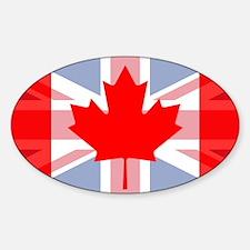 UK/Canada Sticker (Oval)