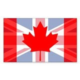 Canada union jack Bumper Stickers